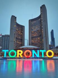 Toronto Sign in front of city hall