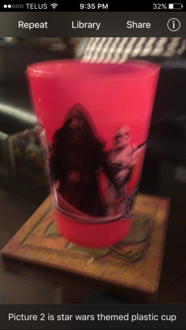 star wars themed plastic cup